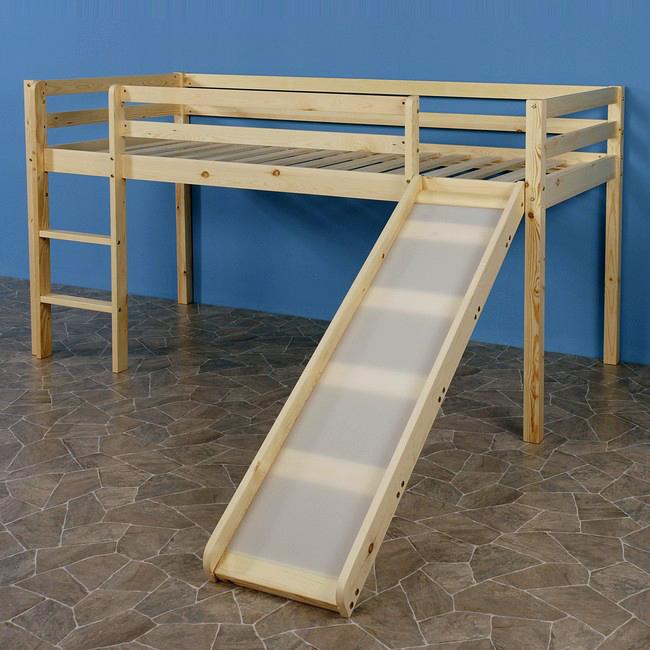 hochbett mit rutsche spielebett kinderm bel abenteuerbett bett lattenrost ebay. Black Bedroom Furniture Sets. Home Design Ideas