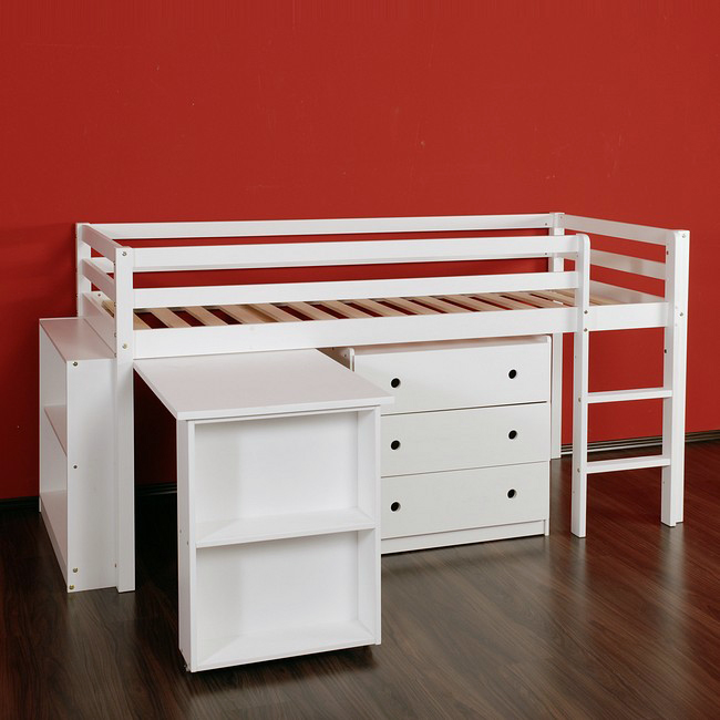 hochbett spielbett kinderbett kinderm bel bett. Black Bedroom Furniture Sets. Home Design Ideas